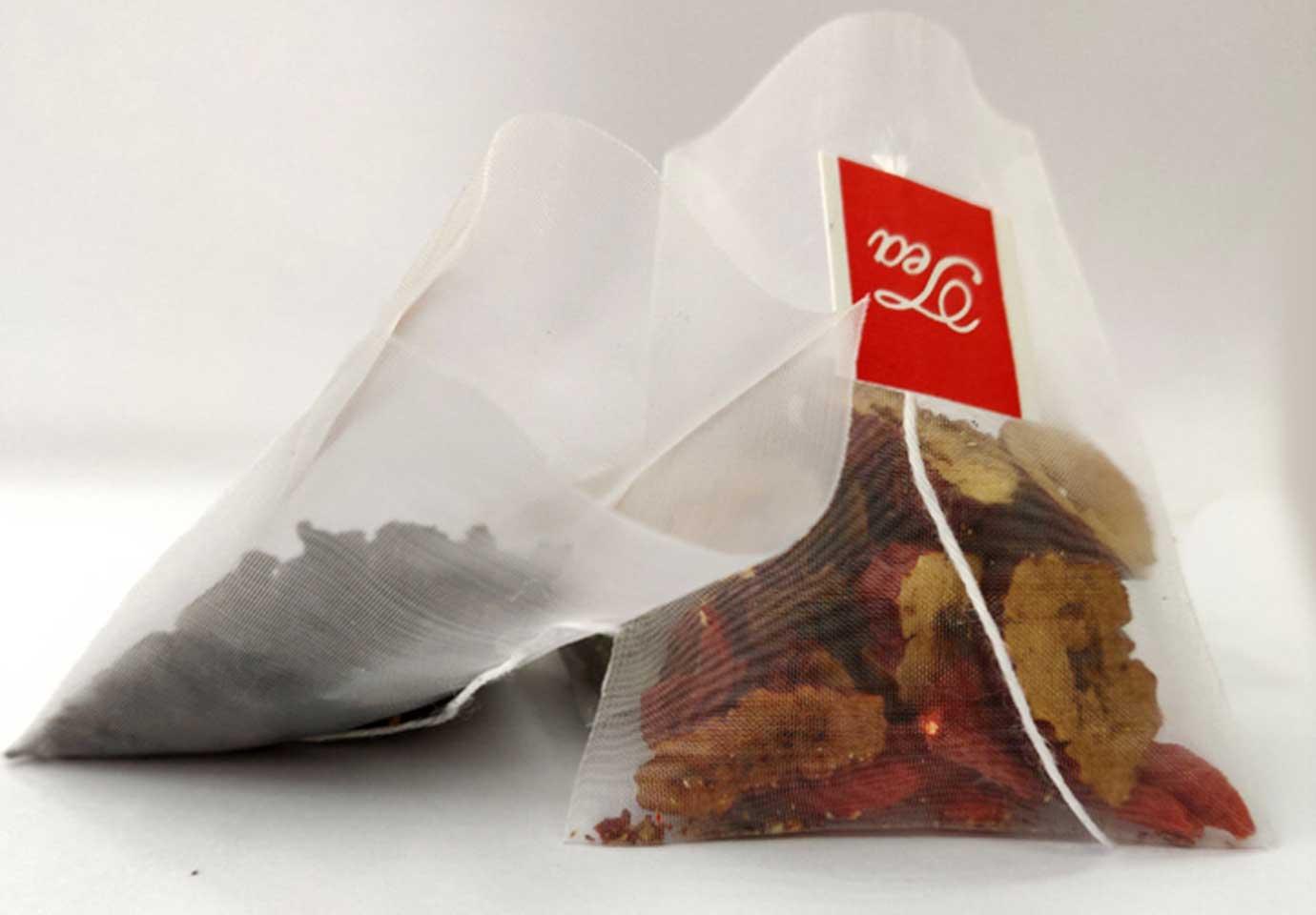 Empty Pyramid Tea Bag