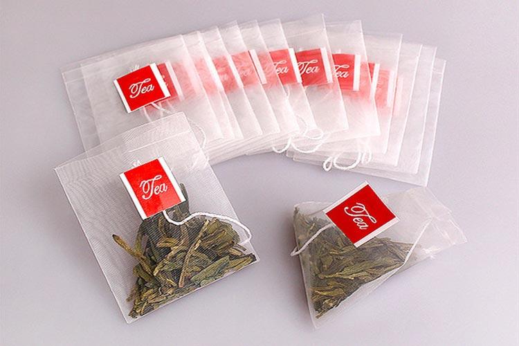 » Nylon Empty pyramid Tea Bag