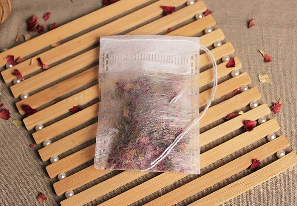 » Biodegradable custom corn fiber empty tea bag with string