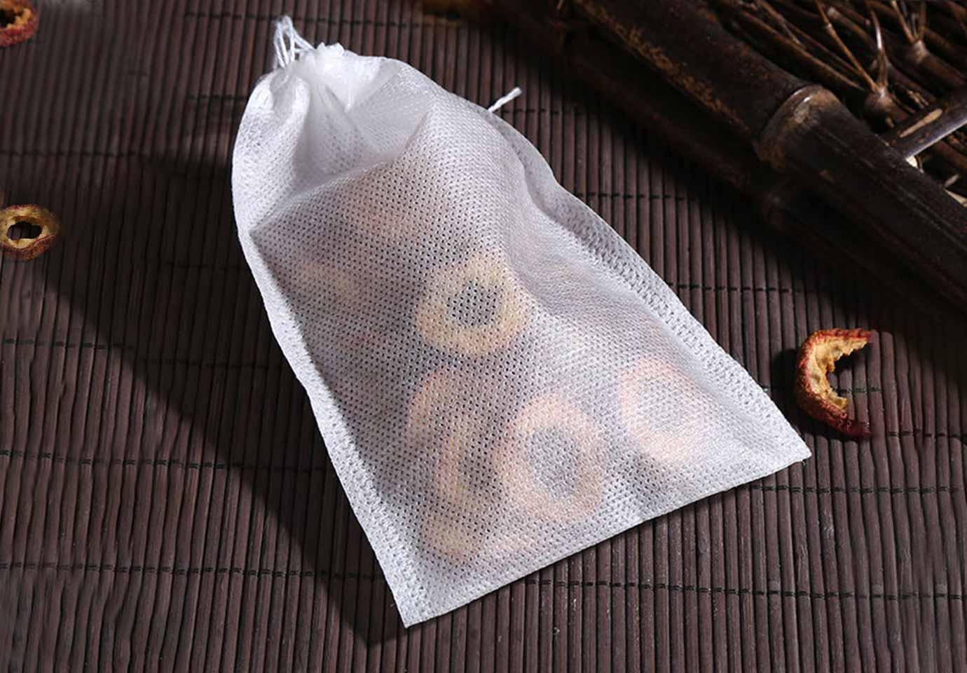 » Non-Woven Food-Grade Drawstring Tea Bags