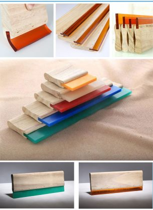 wooden squeegee rubber