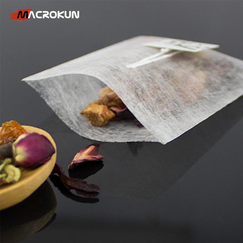 Biodegradable custom corn fiber empty tea bag with string